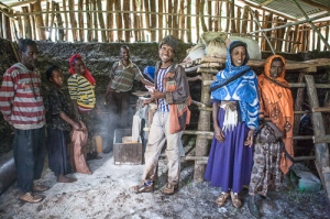 Local Ethiopian men and women excited about the new mill in their community