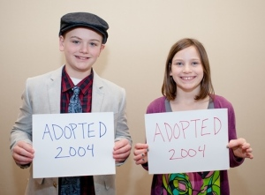 Daniel Bryson-Beane, 13 and Ashlyn Bryson-Beane, 10. Credit: Jane G. Photography