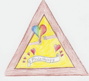 Girls Scout badge drawn by Sydney Vernon, 11